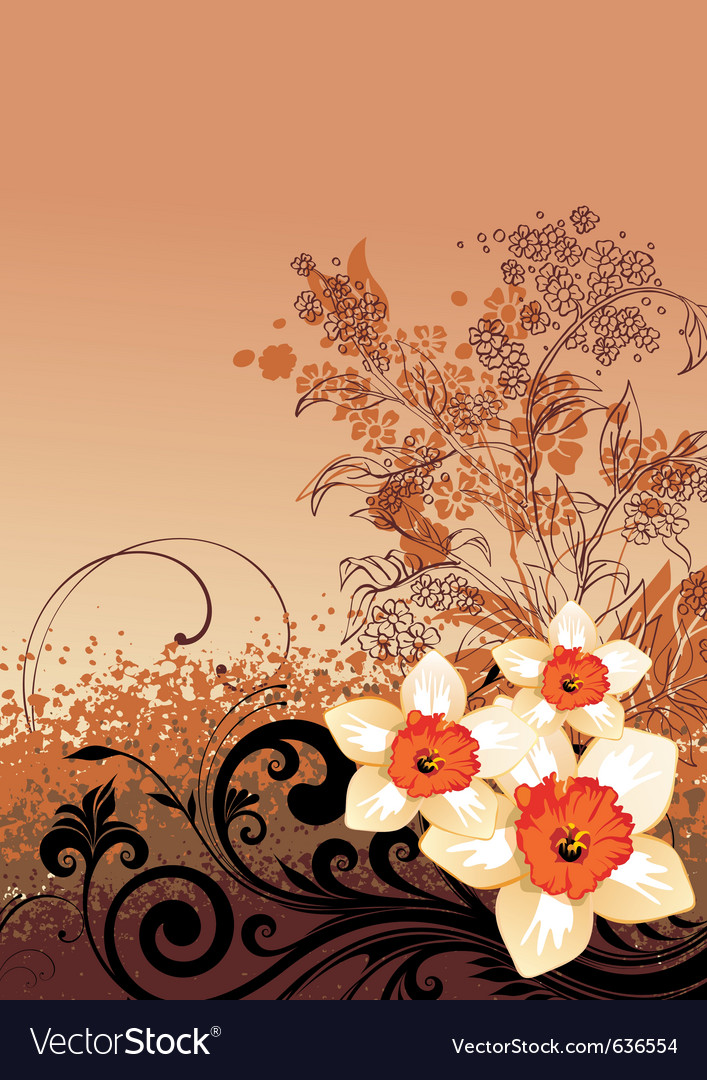 Summer floral vector | Price: 1 Credit (USD $1)