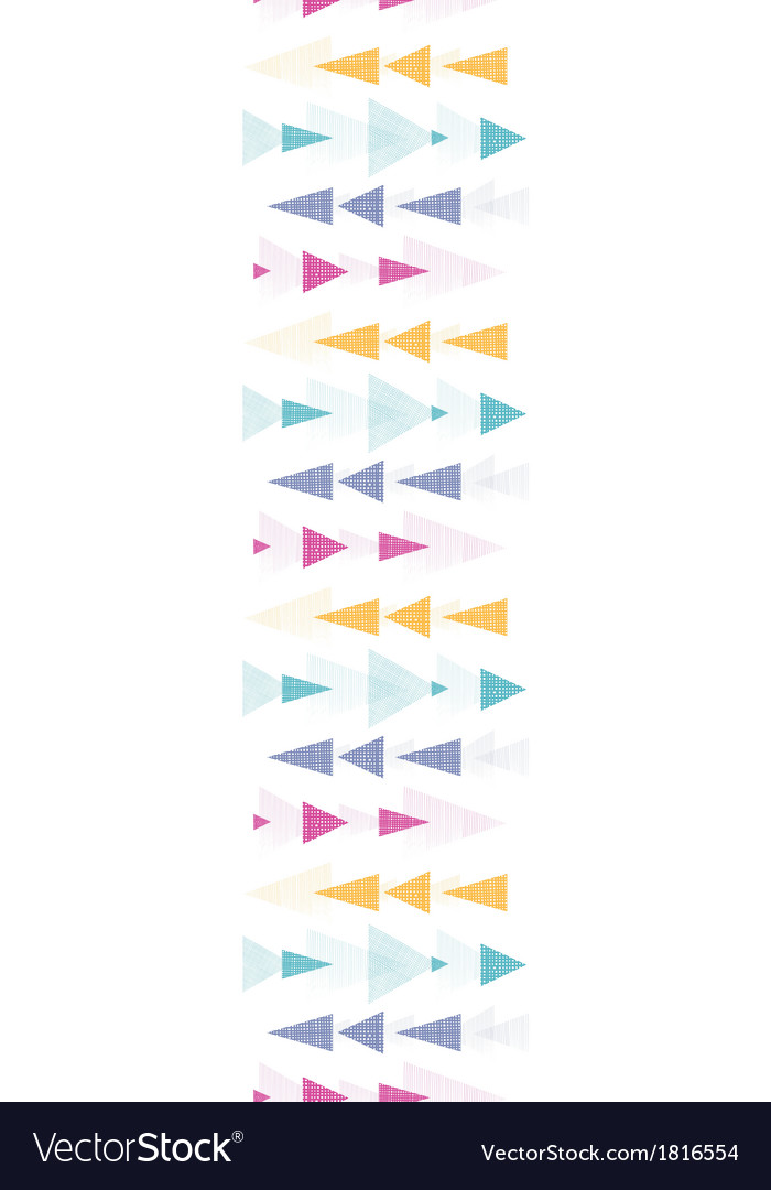 Textured arrows stripes vertical border seamless vector | Price: 1 Credit (USD $1)