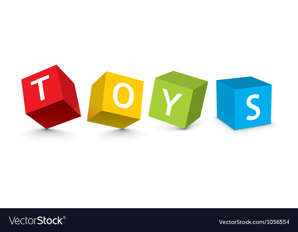 Toy cube heading vector | Price: 1 Credit (USD $1)