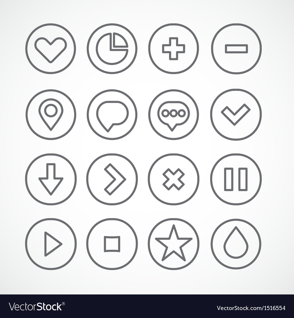 Web icons collection simple clean shapes vector | Price: 1 Credit (USD $1)