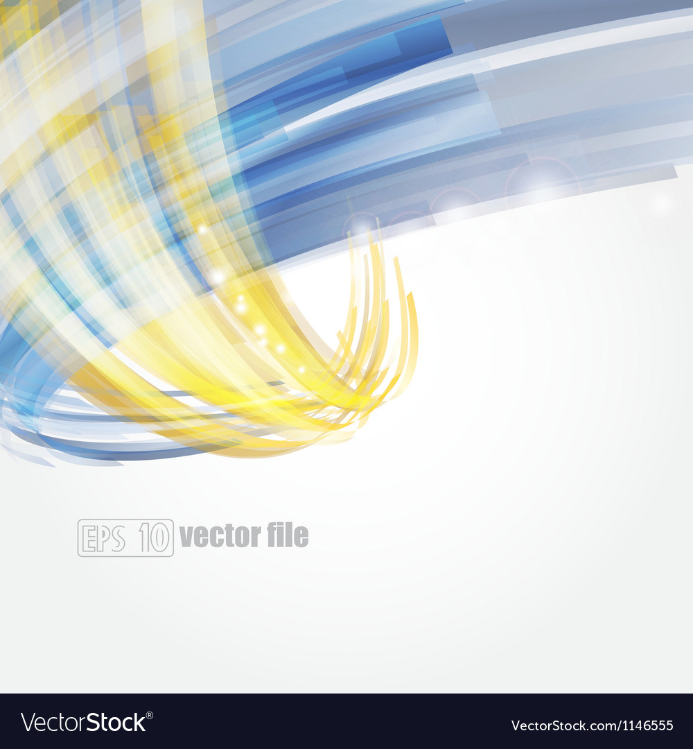 Abstract bright blue and gold background vector | Price: 1 Credit (USD $1)