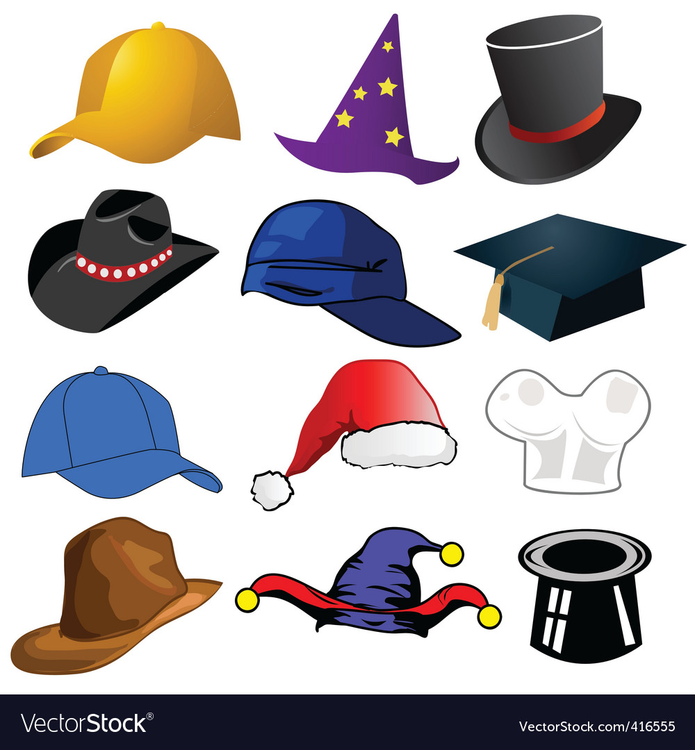 Assorted hats vector | Price: 1 Credit (USD $1)