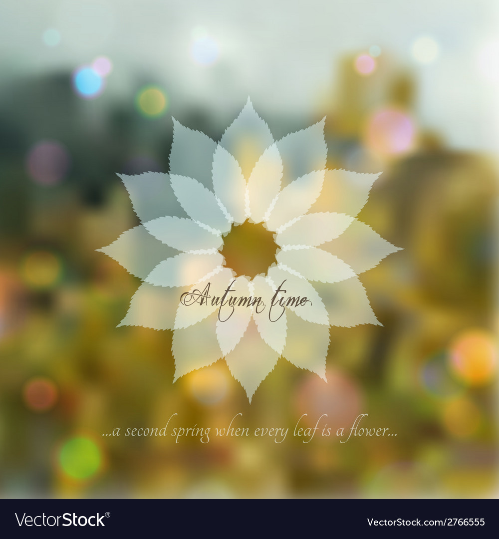 Bokeh romantic autumn background vector | Price: 1 Credit (USD $1)