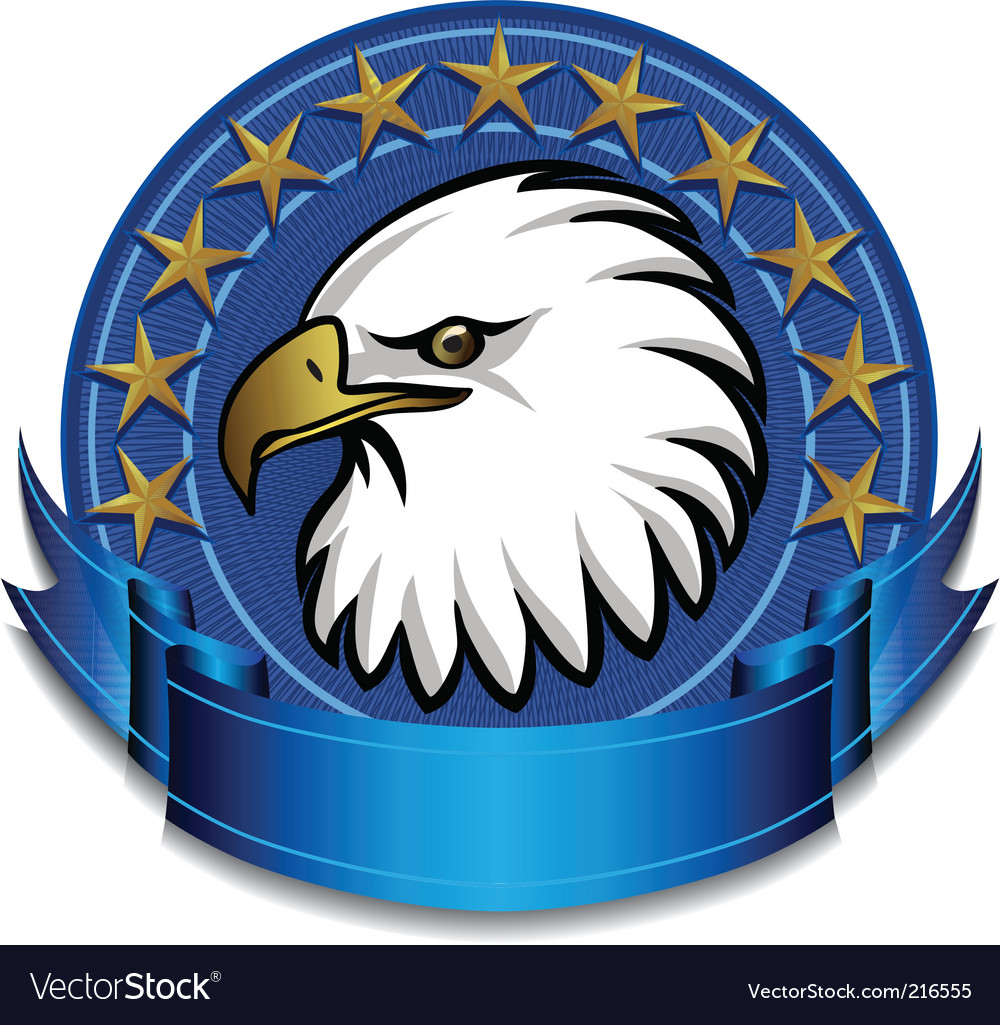 Eagle banner vector | Price: 3 Credit (USD $3)