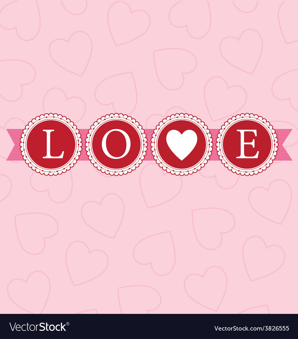 Love word circles bright vector | Price: 1 Credit (USD $1)