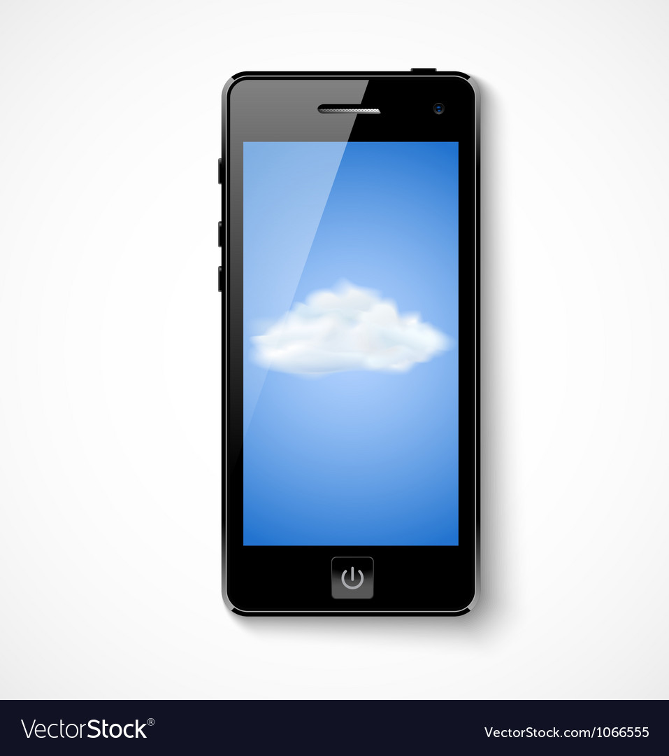 Mobile phone with cloud icon vector | Price: 1 Credit (USD $1)