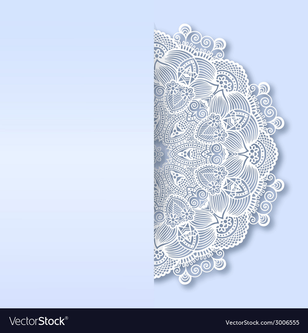 Ornamental template with circle ornate background vector | Price: 1 Credit (USD $1)