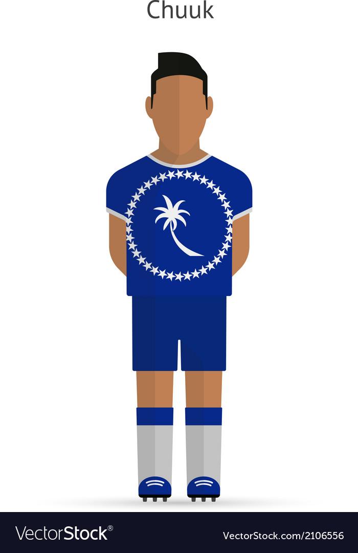 Chuuk football player soccer uniform vector | Price: 1 Credit (USD $1)