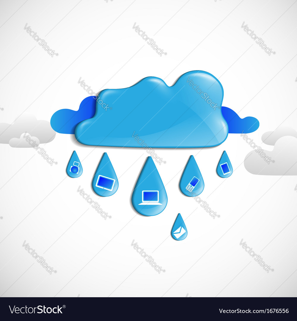 Cloud omputing oncept vector | Price: 1 Credit (USD $1)