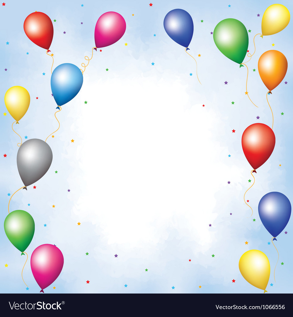 Colourful balloons and confett vector | Price: 1 Credit (USD $1)