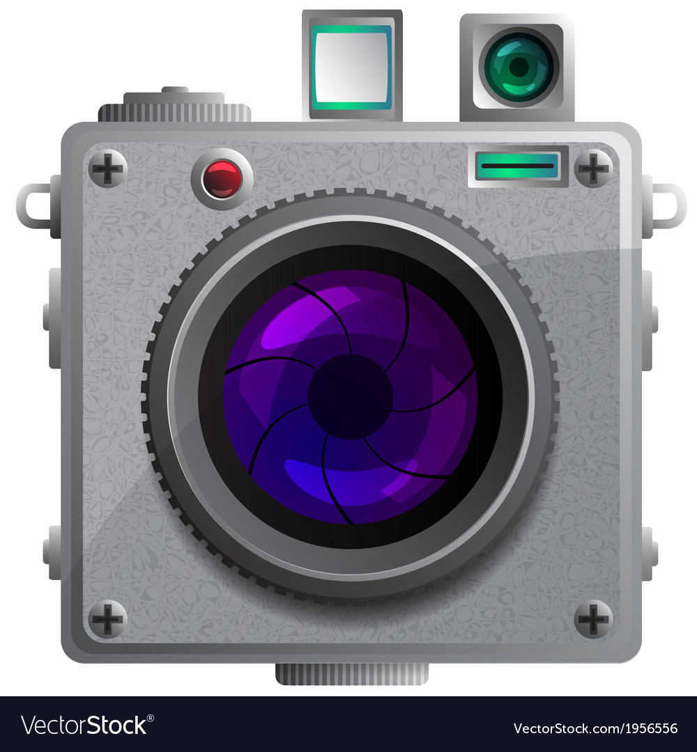 Compact camera with a lens vector | Price: 1 Credit (USD $1)