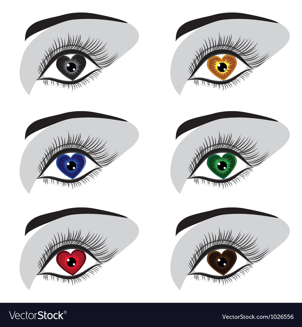 Eye heart set vector | Price: 1 Credit (USD $1)