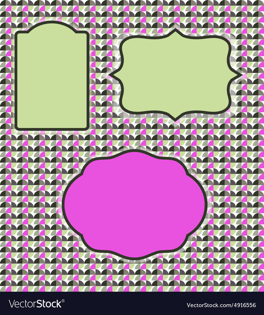 Frame and backgraund vector