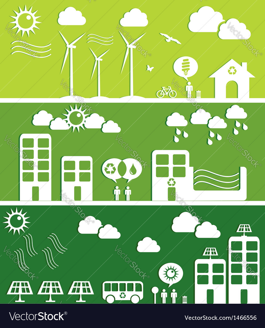 Green city concept vector | Price: 1 Credit (USD $1)