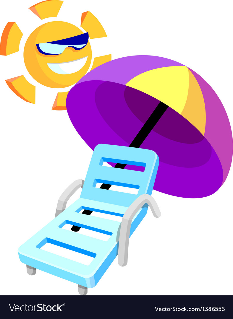 Icon tanning chair vector | Price: 1 Credit (USD $1)