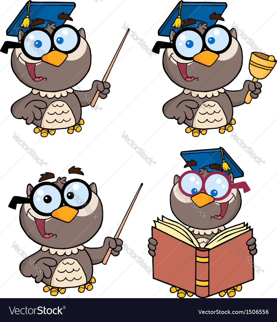 Owl teacher- collection vector | Price: 3 Credit (USD $3)