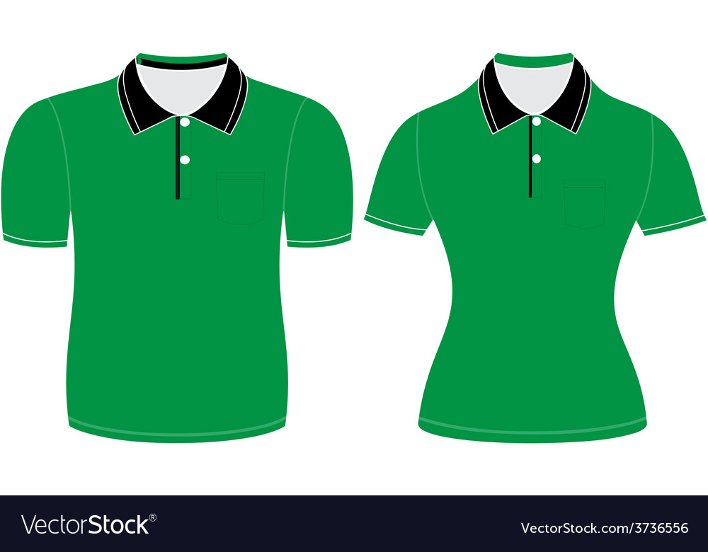 Polo shirt men and woman outline vector | Price: 1 Credit (USD $1)