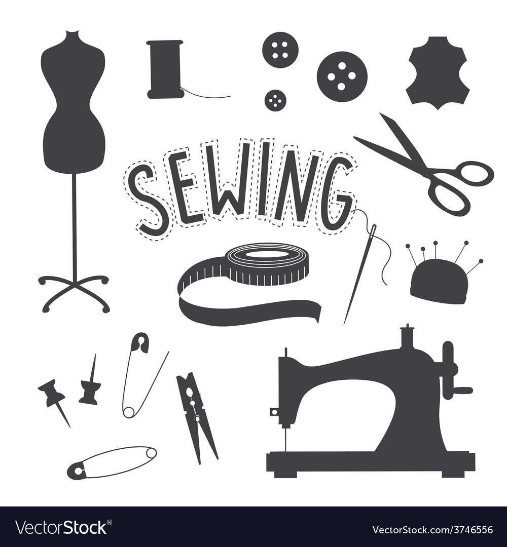Sewing slip art set vector   Price: 1 Credit (USD $1)