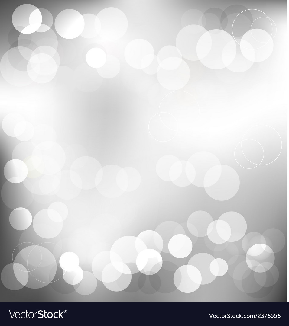 Silver elegant abstract background with bokeh vector | Price: 1 Credit (USD $1)