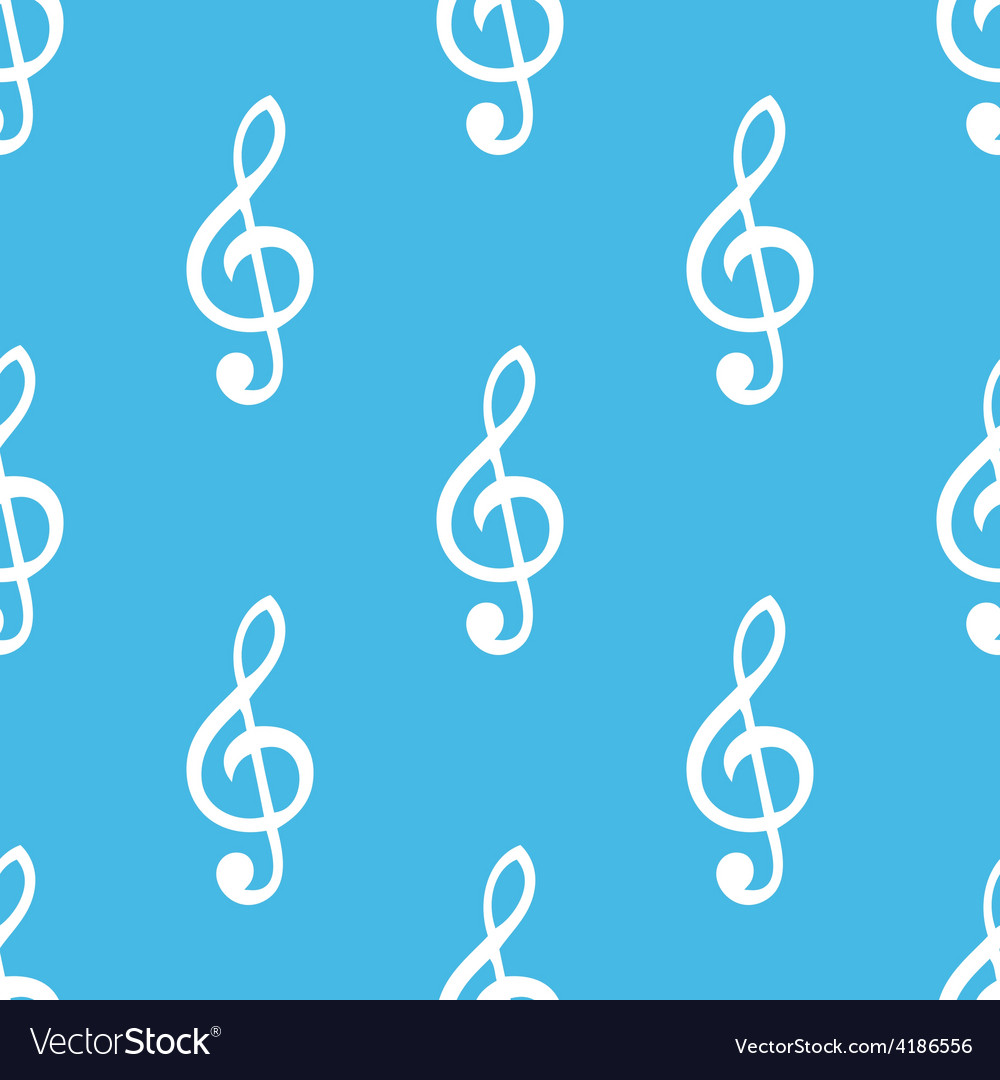 Treble clef seamless pattern vector | Price: 1 Credit (USD $1)