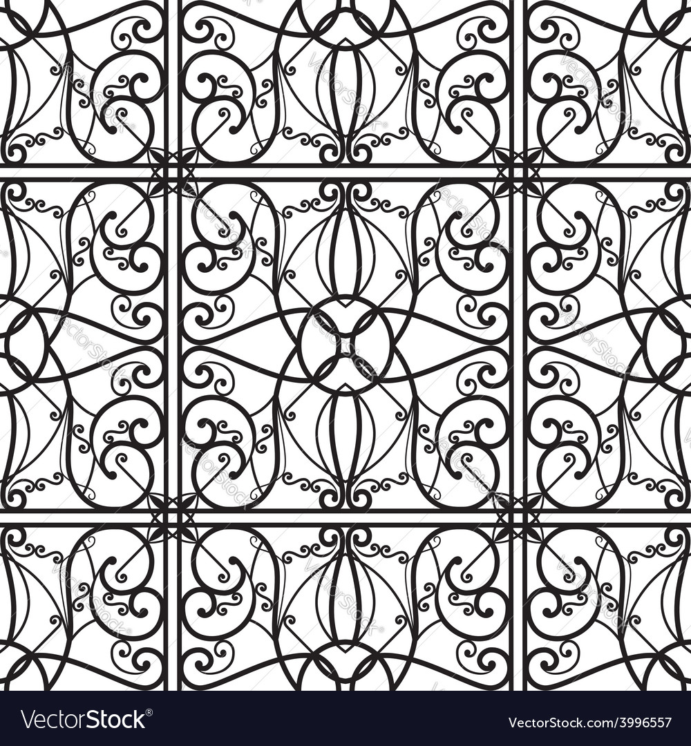 Elegant black and white seamless pattern vector | Price: 1 Credit (USD $1)