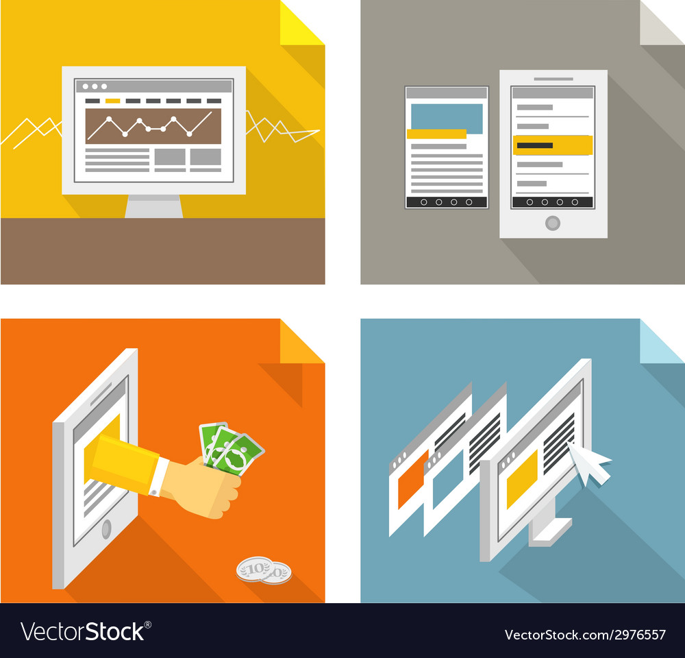 Modern gadgets and web page templates collection vector | Price: 1 Credit (USD $1)