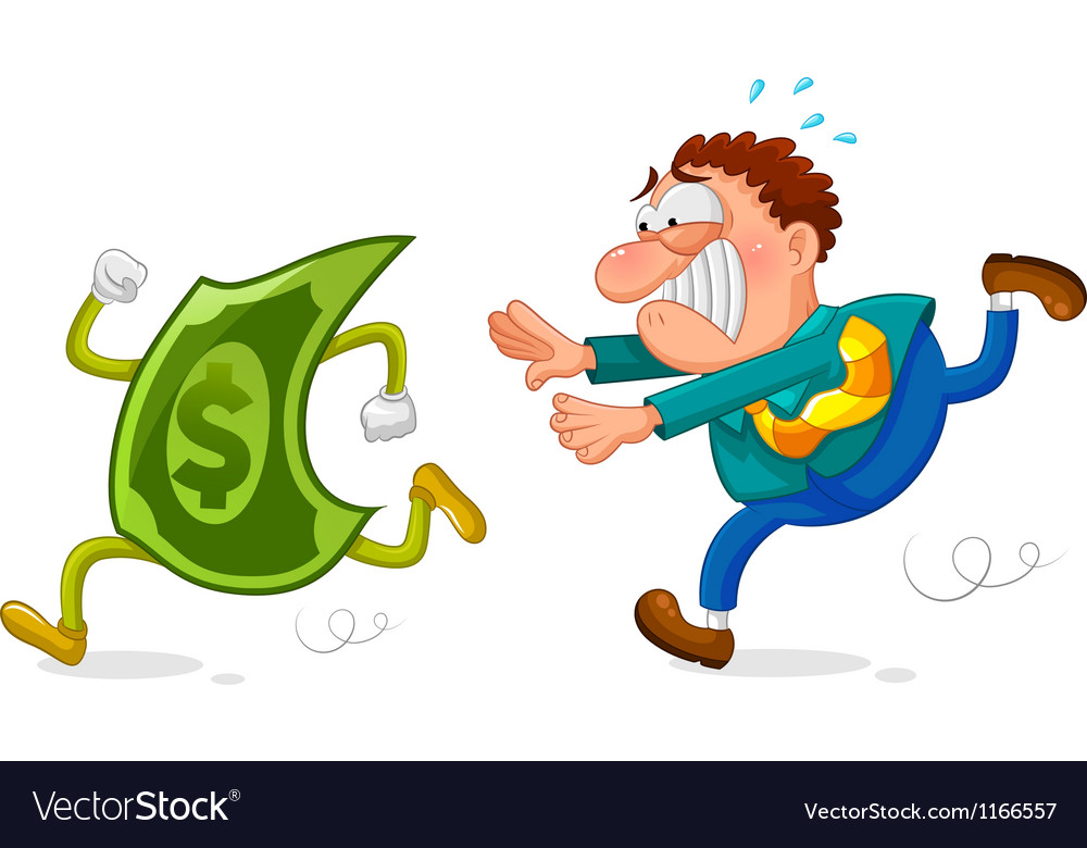 Money chase vector | Price: 3 Credit (USD $3)