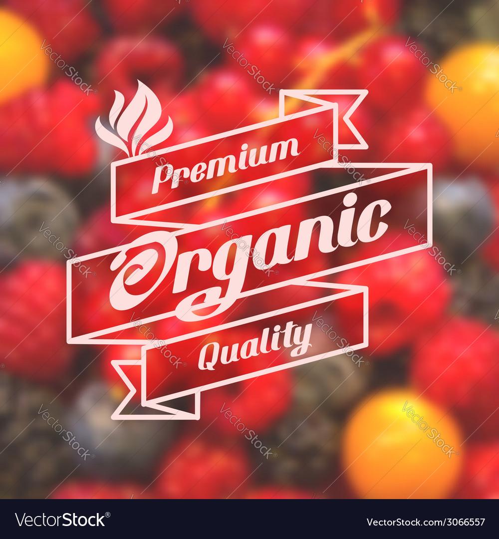 Organic label vector | Price: 1 Credit (USD $1)