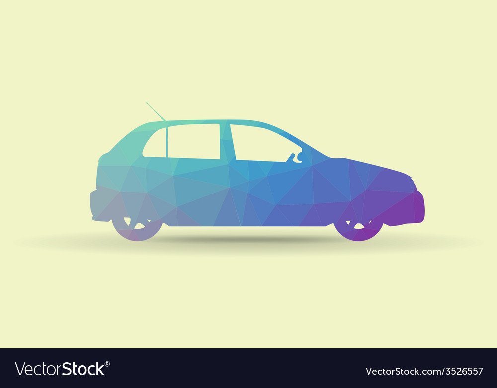 Polygon car vector | Price: 1 Credit (USD $1)