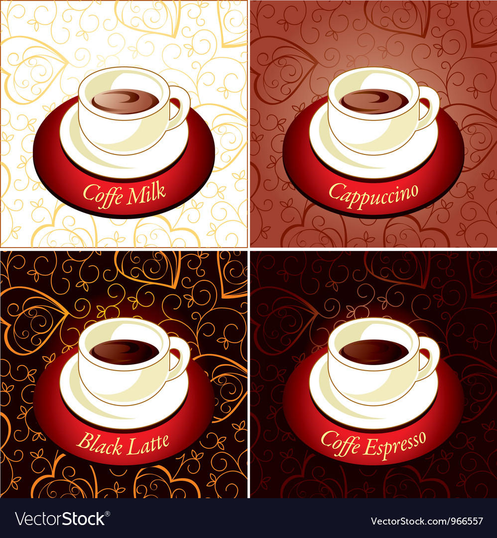 Set of coffee vector | Price: 1 Credit (USD $1)
