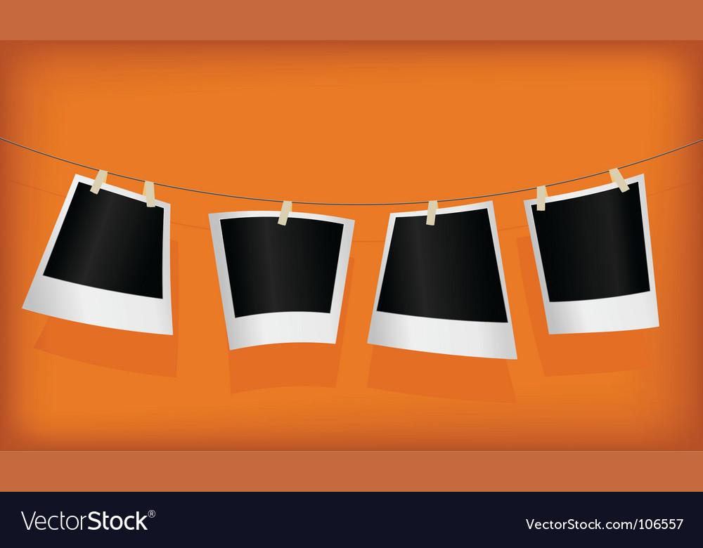 Set of empty photos vector | Price: 1 Credit (USD $1)