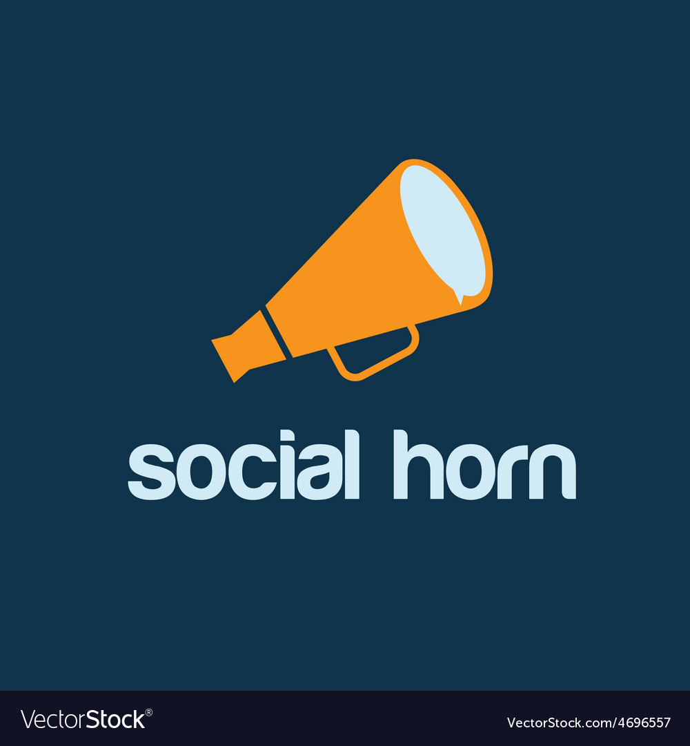 Social horn concept design template vector | Price: 1 Credit (USD $1)