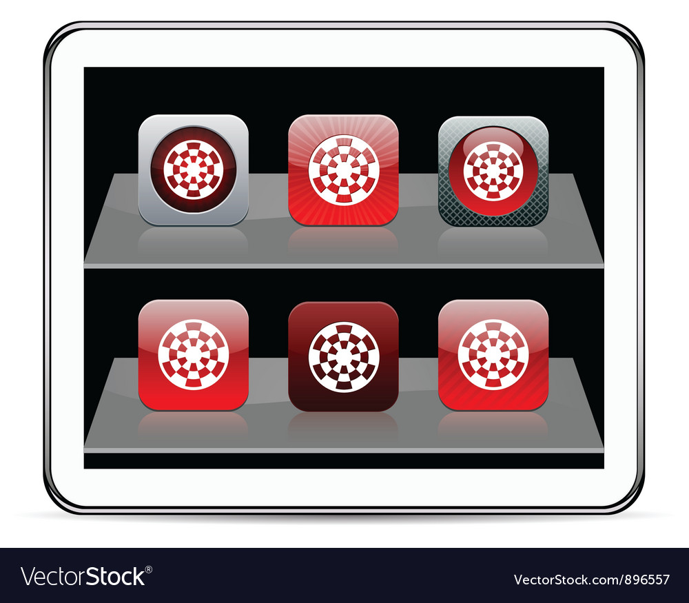 Target red app icons vector   Price: 1 Credit (USD $1)