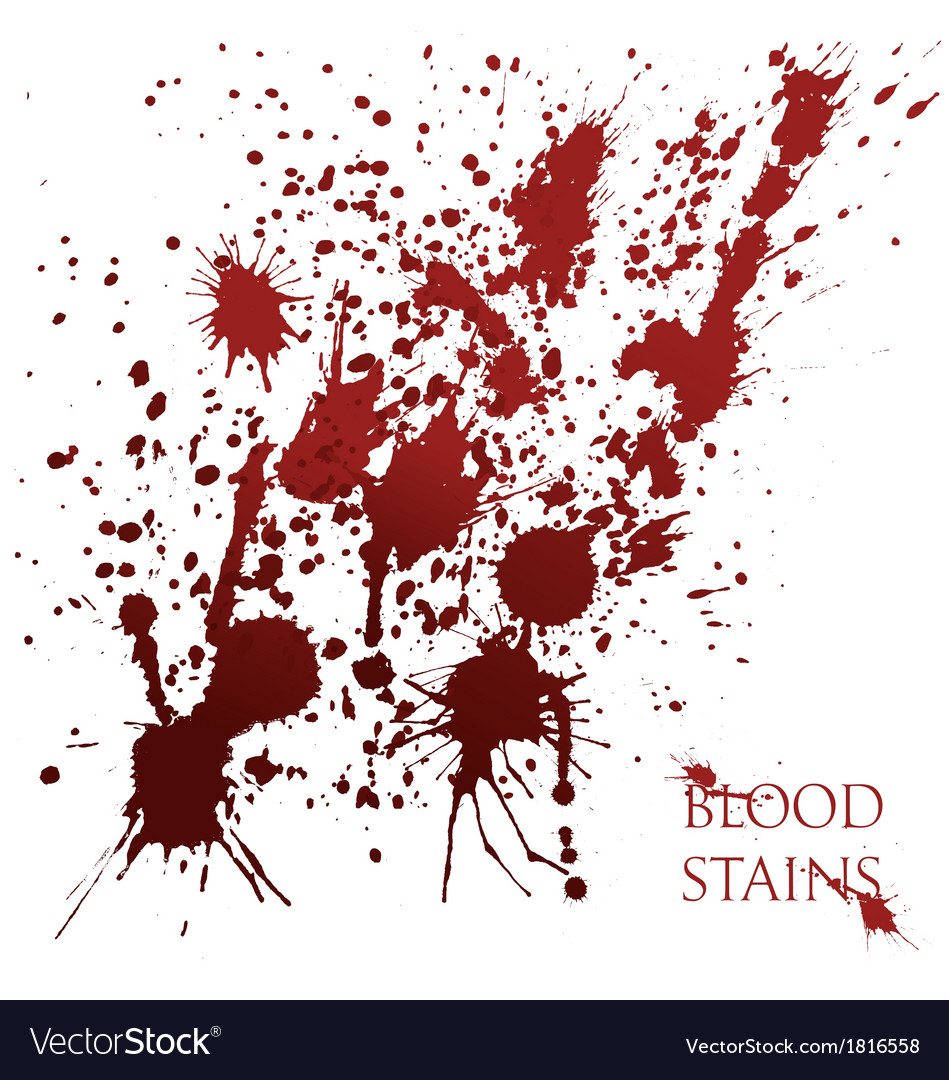 Blood stains vector | Price: 1 Credit (USD $1)