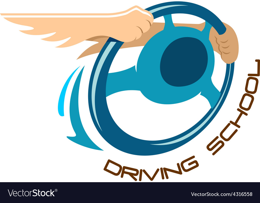 Driving school logo vector   Price: 1 Credit (USD $1)