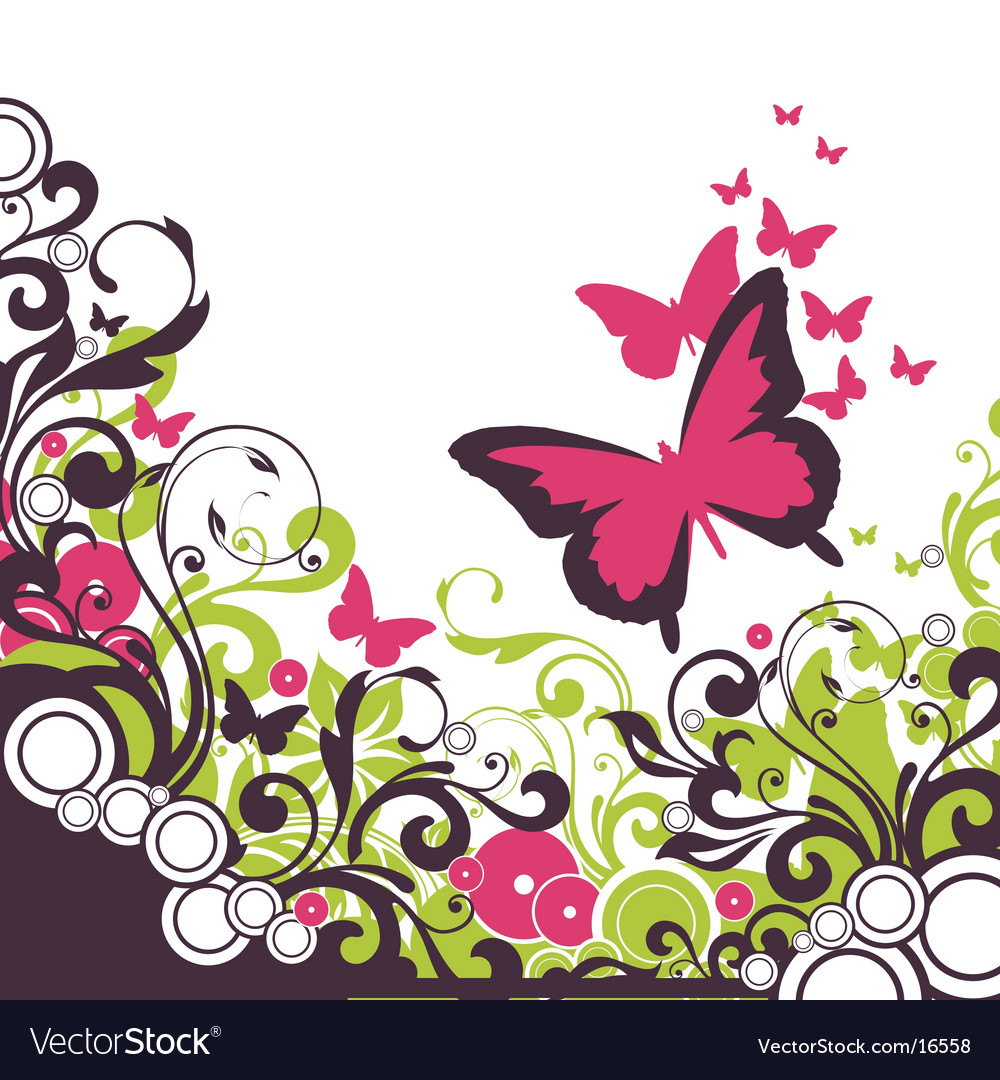 Floral graphic background design vector | Price: 1 Credit (USD $1)