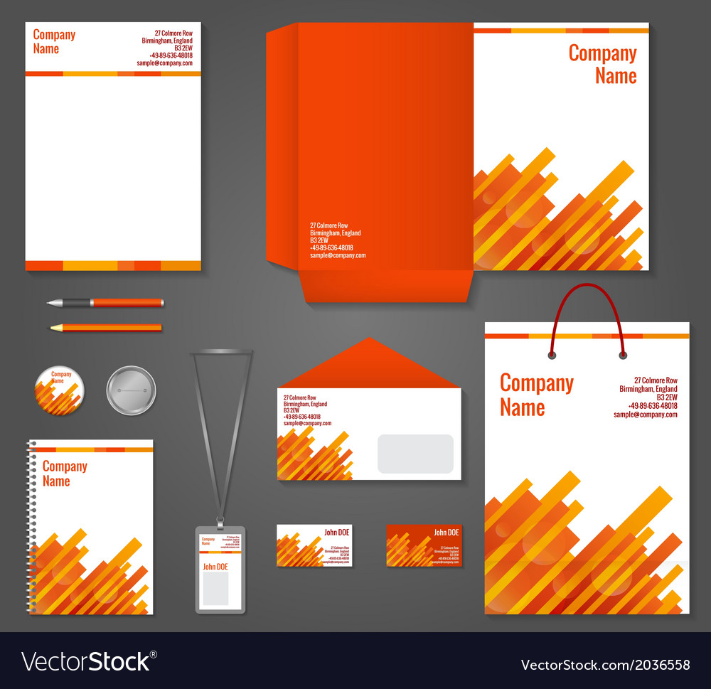 Geometric technology business stationery template vector | Price: 1 Credit (USD $1)
