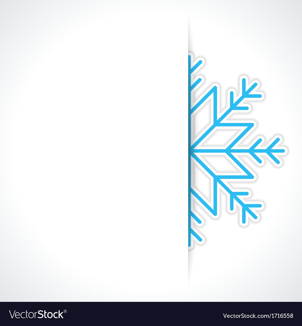Merry christmas card and snowflake vector | Price: 1 Credit (USD $1)