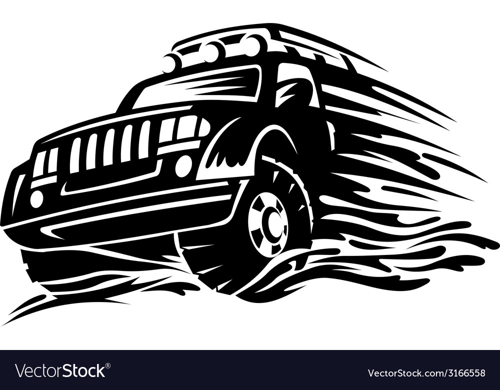 Offroad vehicle vector | Price: 1 Credit (USD $1)