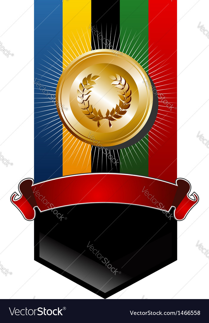 Olympic games golden medal vector | Price: 1 Credit (USD $1)