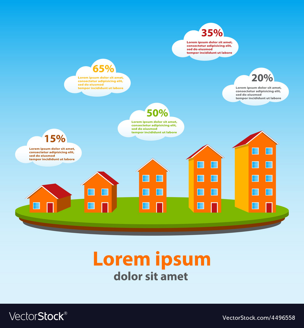 Real estate concept infographics vector | Price: 1 Credit (USD $1)