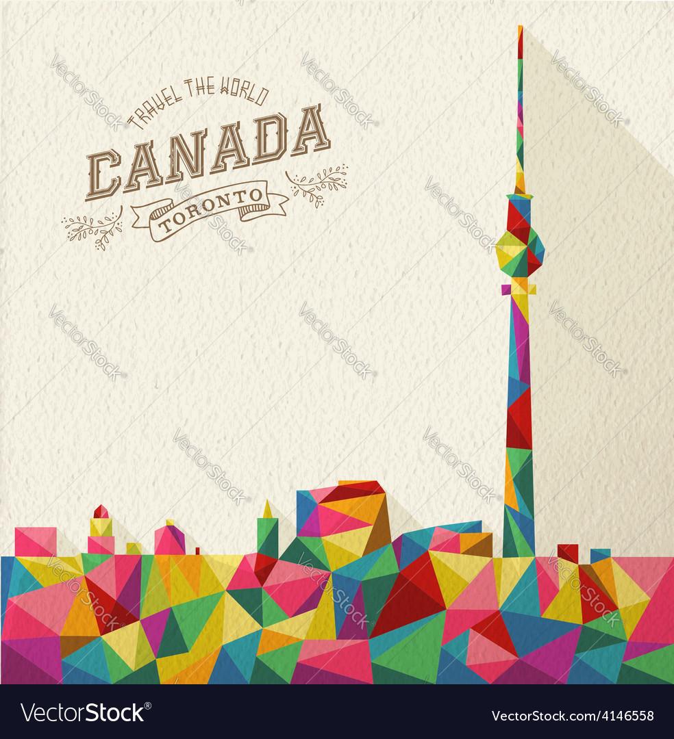 Travel canada polygonal skyline vector | Price: 1 Credit (USD $1)