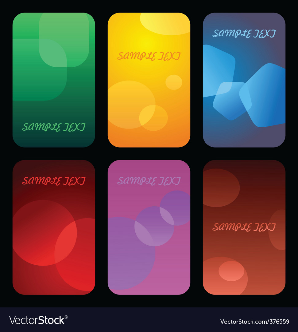 Business colorful cards vector | Price: 1 Credit (USD $1)