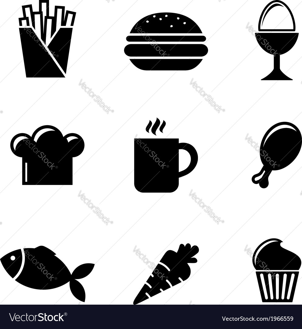 Collection of food icons vector | Price: 1 Credit (USD $1)