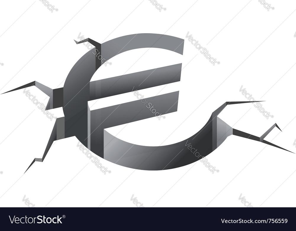 Euro symbol in crash vector | Price: 1 Credit (USD $1)