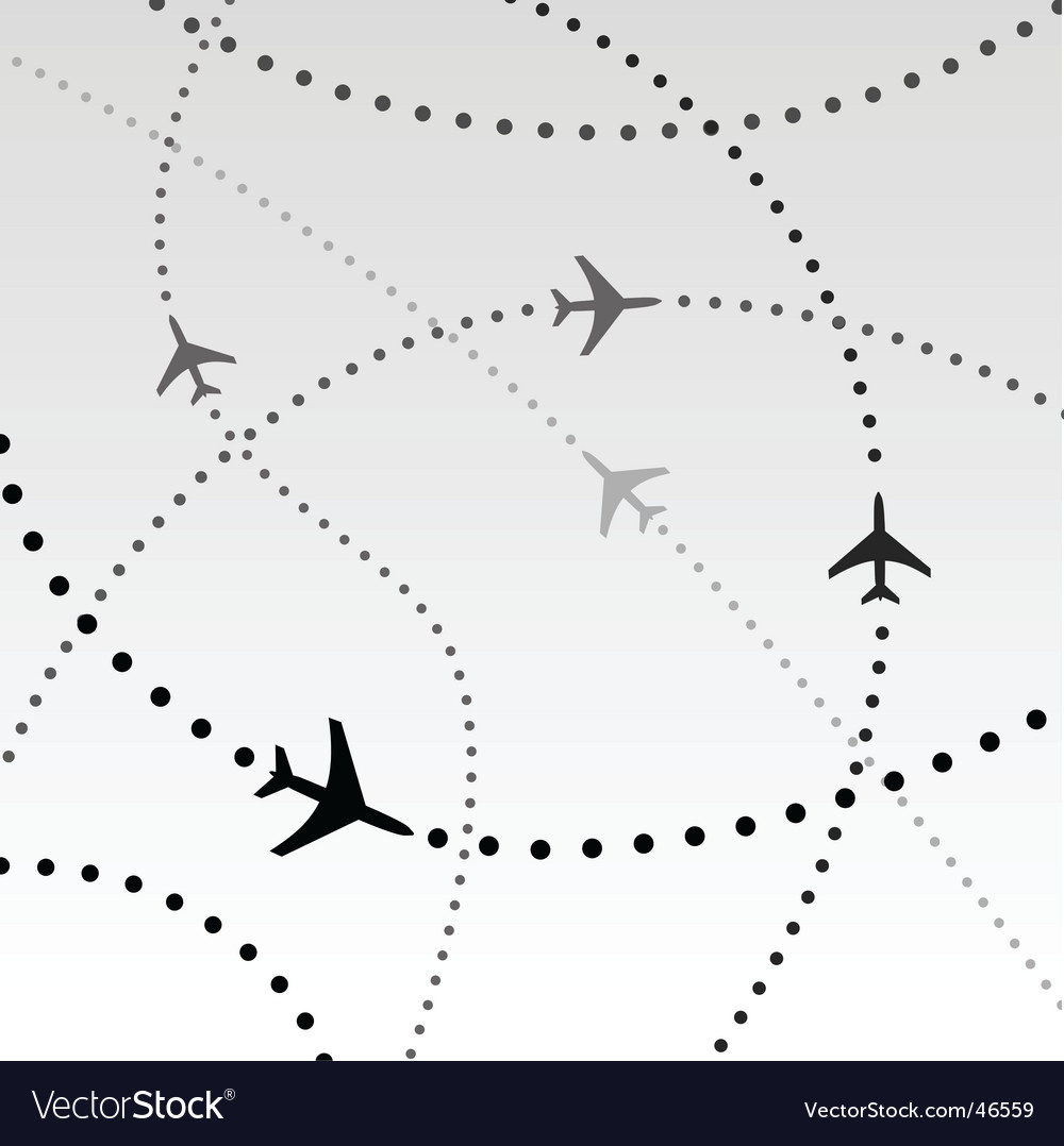 Flight paths vector | Price: 1 Credit (USD $1)