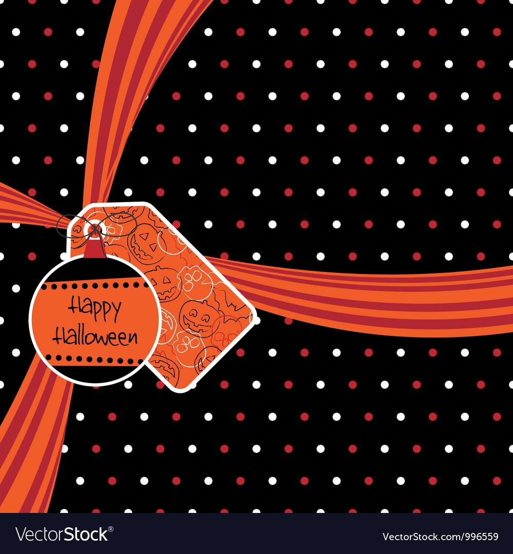 Halloween ribbon vector | Price: 1 Credit (USD $1)