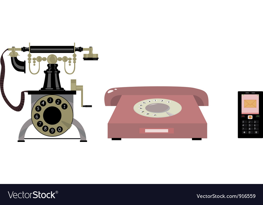 History of the telephone vector | Price: 3 Credit (USD $3)