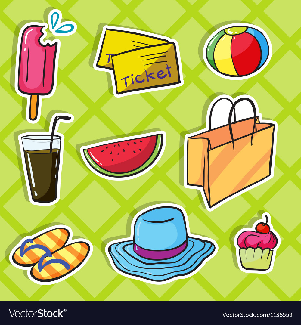 Holiday objects vector | Price: 1 Credit (USD $1)