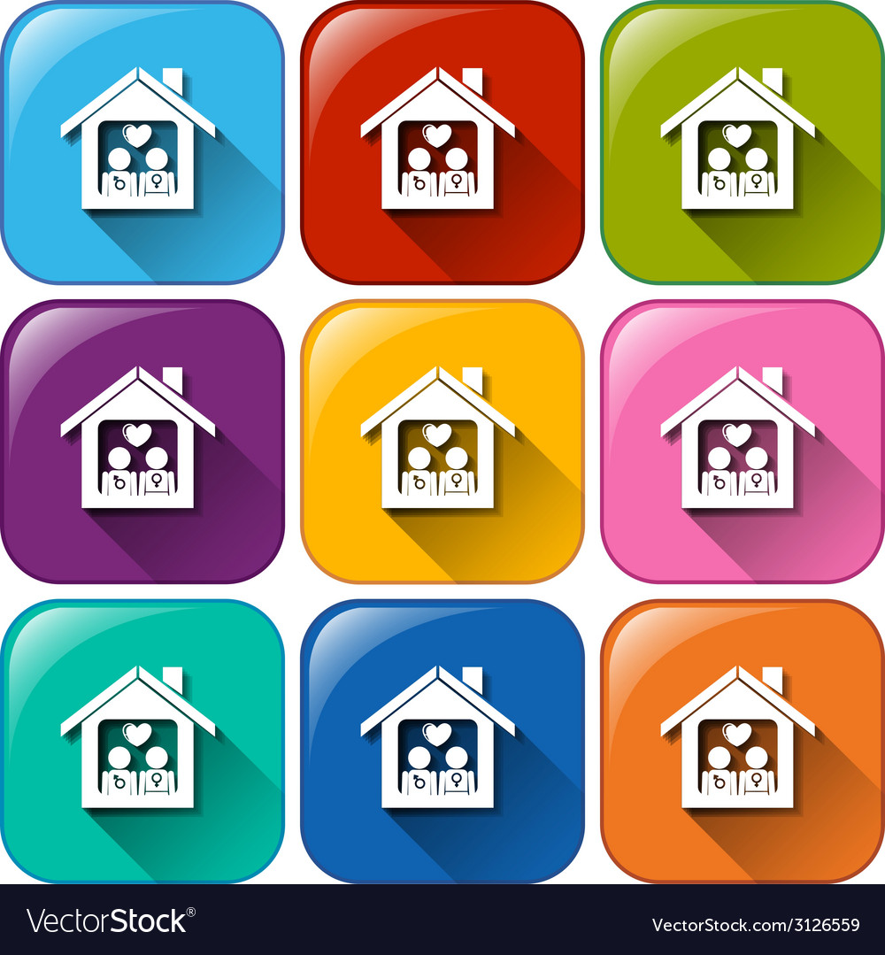 Icons with a home vector | Price: 1 Credit (USD $1)